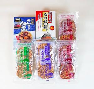 銚子電鉄ぬれ煎餅・佃煮セット(Sセット)[千葉県銚子市]