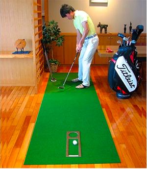 ゴルフ練習用・SUPER-BENTパターマット90cm×3.5mとゴルフ練習用具/土佐CCオリジナル[高知県芸西村]